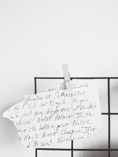 Topical for World Poetry Day - Fragment of a Love Letter found in Arles . Torn Handwritten Biro Love Amour French Emotion Negative Space Minimalism Minimalist Paper Paper View