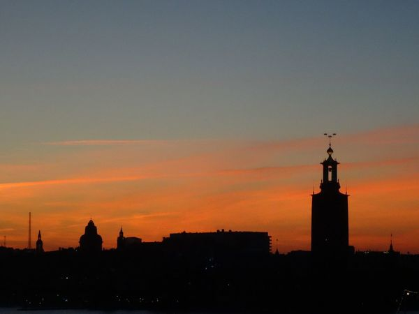 Stockholm sunset Sweden Skyline Sunset Orange Stockholm Summertime Summer Sky Cityscape