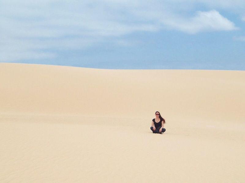 La prima donna sulla Duna The first woman on the Dune (not Fiat) Fuerteventura Corralejo Canary Islands Blue Wave