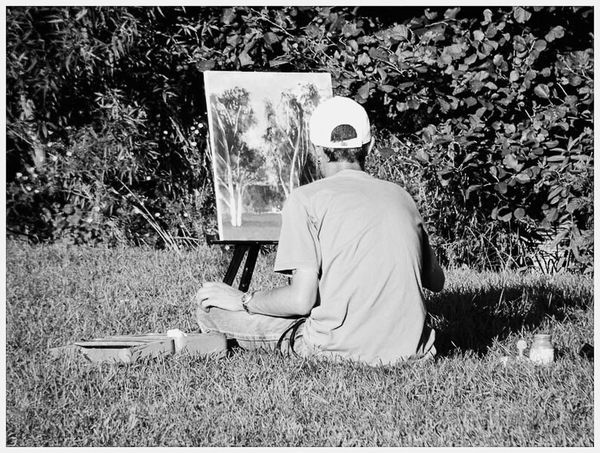 Check This Out First Eyeem Photo B&w Artist Painting Park Niu Serene