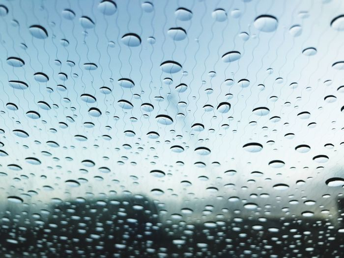 Perspectives On Nature Window Drop Rain Wet Full Frame Backgrounds RainDrop Weather Water No People Close-up Indoors  Day Nature Sky