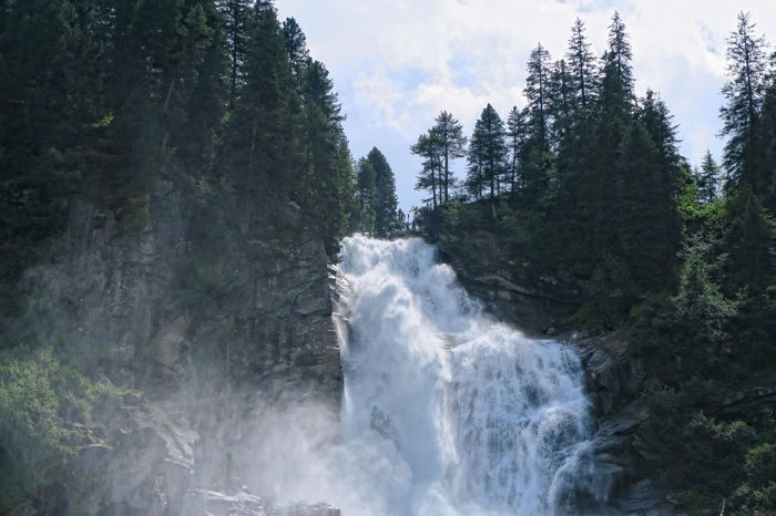 Krimml Waterfalls in summer. Hight Tauern mountain range nation park. (Austria) Alps Austria Day European Alps Forest Krimml Krimmler Wasserfalle Krimmlerwasserfälle Landscape Nature No People Outdoors River Scenics Sky Stream Tirol  Tree Water Waterfall Waterfalls