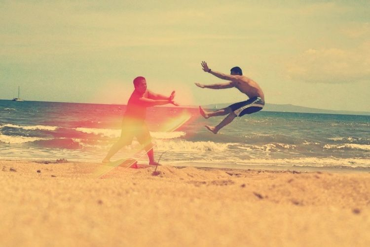 Beach day with my bro!