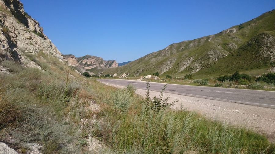 Scenic shot of mountain range