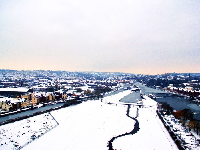 A snowy view of