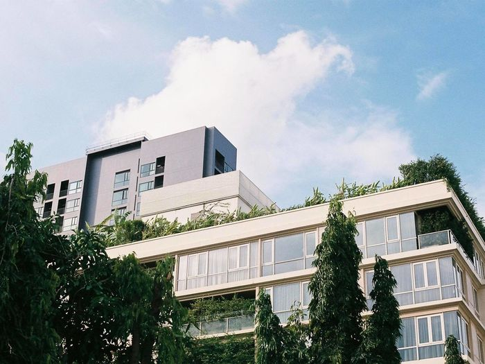 Agfa Agfa Vista200 Apartment Architecture Building Building Exterior Built Structure City Cloud - Sky Day Industry Nature No People Outdoors Residential District Sky Tree Window