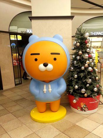 Yellow Christmas Anthropomorphic Face Christmas Decoration Indoors  Cartoon Kakao ♥ Seoul, Korea
