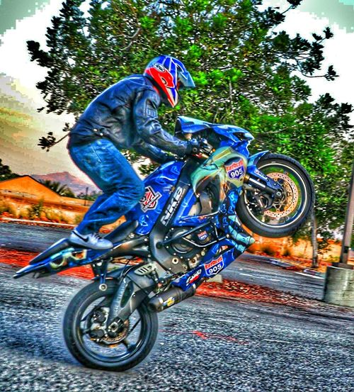 Need for speed a bikers doing a wheely Enjoying Life Life Is A Journey Special Effects On The Road Need For Speed The Street Photographer - 2016 EyeEm Awards Biker Show Off