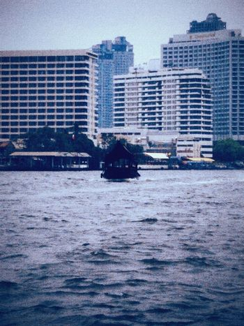 In Chao phraya river : Boat, Architectures, Riverside, Morning in Thailand. Getting In Touch taking photos.