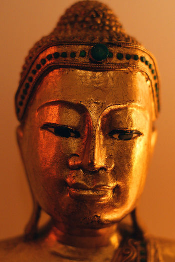 Buddha Statue Calming Close-up Golden Home Sweet Home Peace And Quiet Spirituality Statue Wisdom