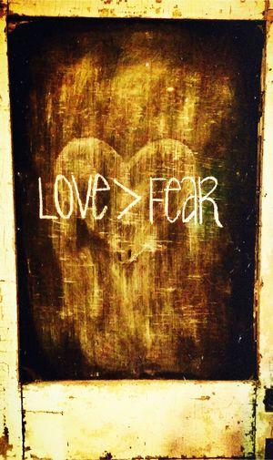 Love>Fear Chalkboard Door