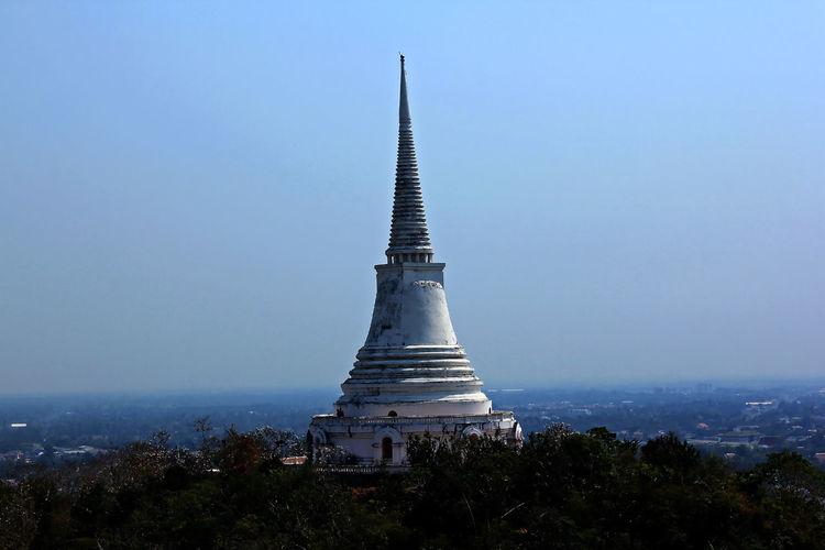 Pagoda Against Clear Sky At Phra Nakhon Khiri Historical Park