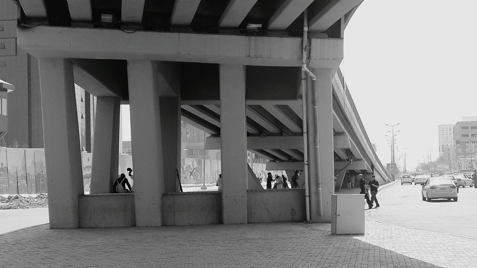 Shades Of Grey Under A Bridge Streetphotography Noontime  People Street