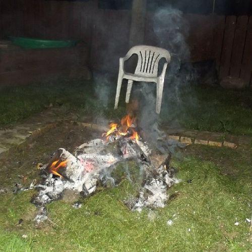 Fire Garden Bunkfire Chair smoke gras grass