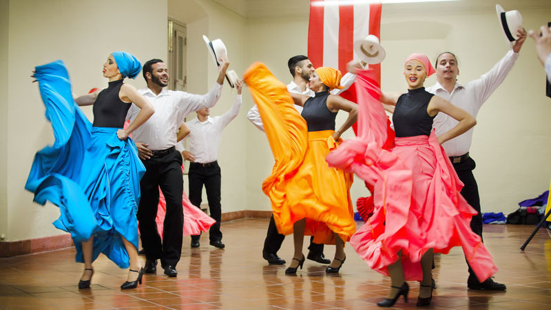 Colorful Dresses Dancing Dancing People Expression Indoors  Leisure Activity Life In Motion People Dancing Person Spanish Dancer