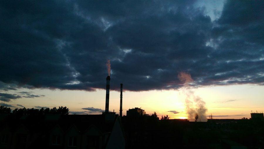 Sunset Taking Photos Evening Sky Sky