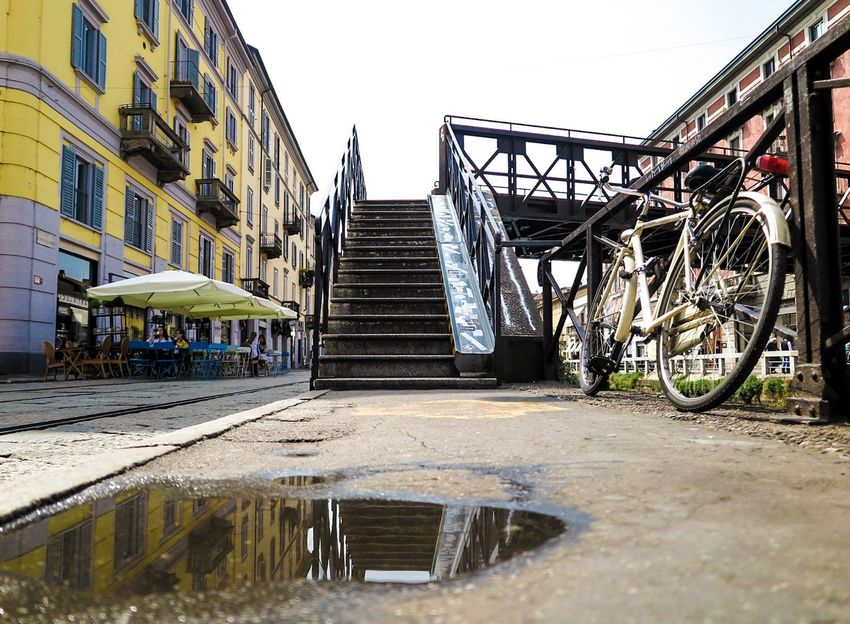 Navigli... Outdoors Building Exterior Architecture Sky Day No People Milan,Italy Navigli Naviglio Grande Navigli Milano Scale  Canal Travel Saturation Colors Spring Spring Afternoon Moment Image Bicicleta Bicicle EyeEmNewHere The Secret Spaces Long Goodbye Resist EyeEm Diversity TCPM Break The Mold The Street Photographer - 2017 EyeEm Awards The Architect - 2017 EyeEm Awards The Great Outdoors - 2017 EyeEm Awards The Portraitist - 2017 EyeEm Awards Sommergefühle EyeEm Selects