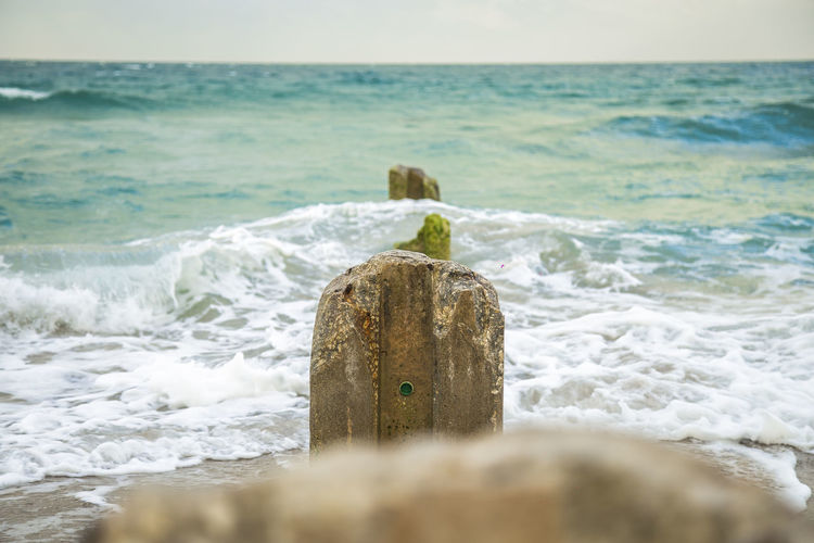 Beach Beauty In Nature Day Horizon Over Water Nature No People Outdoors Rock - Object Scenics Sea Sky Tranquility Water Wave