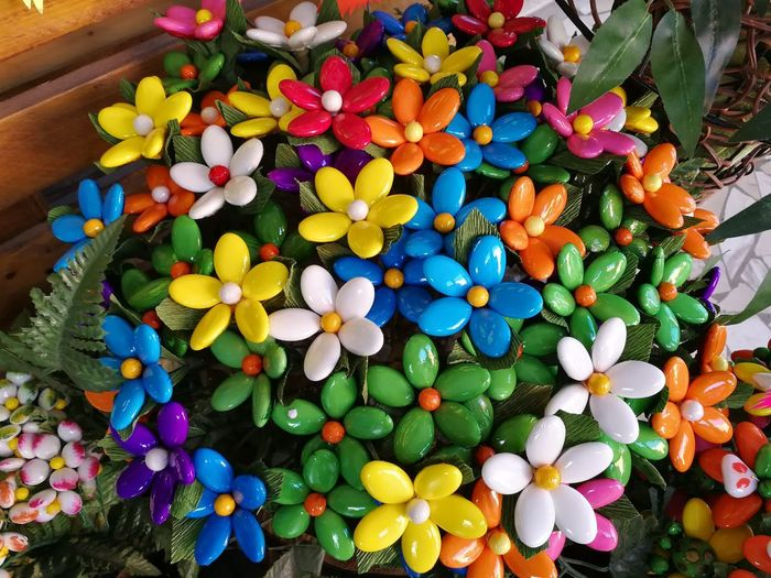 Multi Colored Large Group Of Objects Choice High Angle View Abundance Variation Toy Celebration Indoors  Sweet Food Food Food And Drink Day Candy No People Collection Sweet Ball Confetti Flowers Colorful Multicolored Petals Bouquet Typical Products