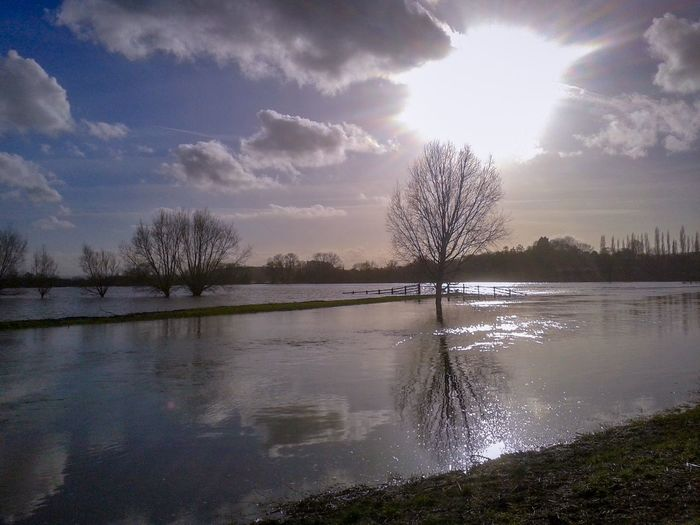 memories of the floods in 2014 February on this day Somerset UK Flooded Fields EyeEm Best Shots - Nature Beauty In Nature Floods 2014 Water Tree Lake Reflection Sky Cloud - Sky Landscape Reflection Lake Reflecting Pool