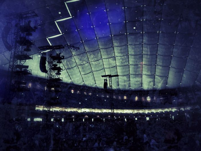 30 minutes before the performance/開演30分前 Architecture Arts Culture And Entertainment Built Structure Large Group Of People Stadium Night Illuminated Indoors  Sport People Paul Mccartney Paul McCartney's Concert OneOnOne IPhoneography