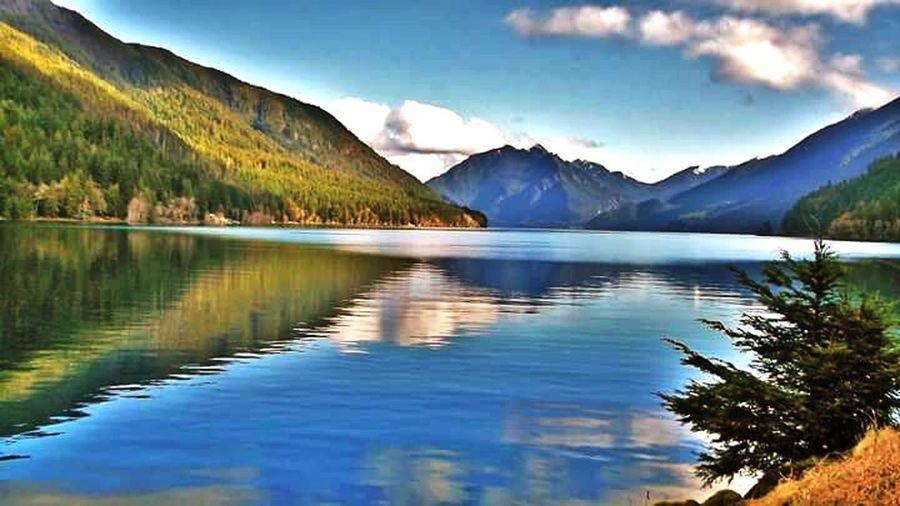 Mountain Tranquil Scene Scenics Lake Water Tranquility Reflection Beauty In Nature Mountain Range Sky Blue Nature Calm Majestic Non-urban Scene Cloud - Sky Waterfront Day Countryside Outdoors First Eyeem Photo