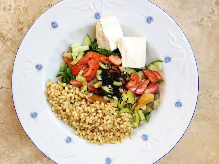 Organic wheat cooked with salad and white cheese Cooking Cucumber Eating Food And Drink Salad Vegetarian Food Wheat Eat Food Food And Drink Freshness Healthy Healthy Eating Healthy Lifestyle Home Food Olive Paste Organic Organic Food Organic Wheat Plate Ready-to-eat Tomato Vegetable Vegeterian White Cheese