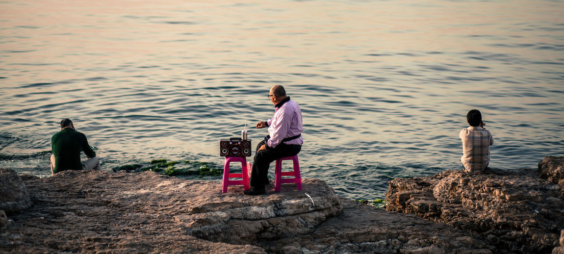 gone fishing Beirut Around The World EyeEmNewHere Eyem Gallery Gallery #Canon Childhood Child Children Only Rear View Boys Sea Adult Standing