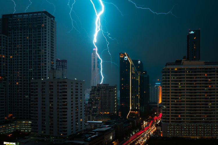 Just A Storm Today. Lightning Bangkok City Bangkok Thunder TunderStorm Building City Lightning Night Power In Nature Sky Skyscraper Storm City Thunderstorm Cityscape Storm City Life City Power Cityscape Storm My Best Travel Photo