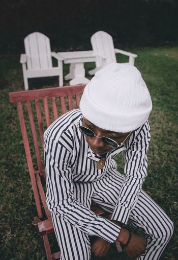 Thoughtful. EyeEm Best Shots Canon Photography Fashion Protrait Men Casual Clothing Close-up Thoughtful Striped Zebra Posing