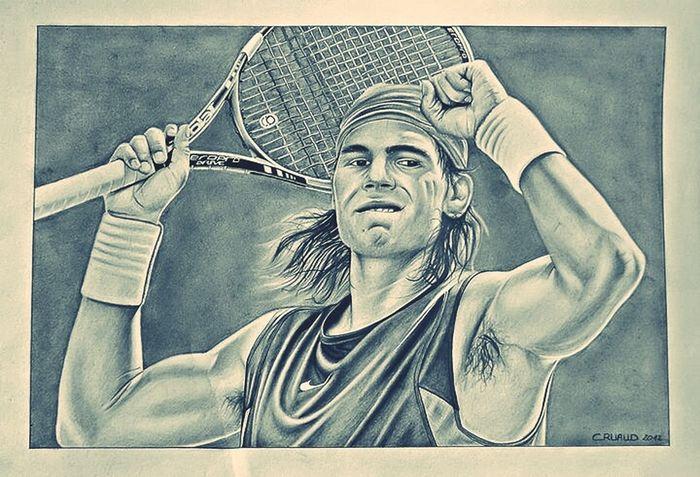 My Drawing Rafael Nadal  Sport Tennis