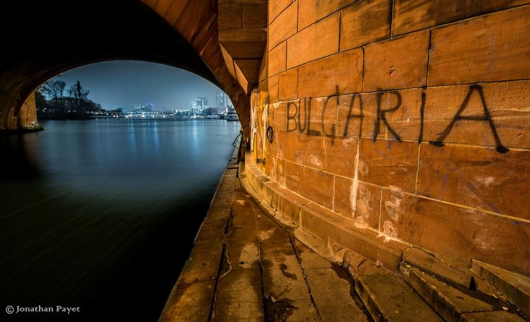Bridge EyeEmNewHere Tourism Travel Frozen Winter Germany History Art Graffiti Wall WrittenCity Arch Water Connection Architecture Bulgaria Frankfurt Dusk Pictureoftheday LayoversNight Outdoors Illuminated