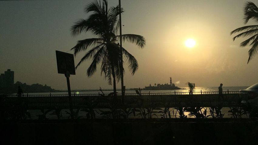 Hajiali Mumbai India Beautiful Day Scenicbeauty Sunsets Sea Beach Sun Sky Silhouette Onmywayhome
