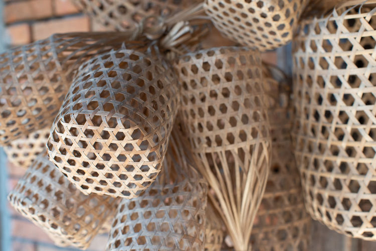 Thai traditional weave Basket Weave❤ Close-up Pattern Indoors  Selective Focus Basket Input Device Wicker Group Of Objects Focus On Foreground Art Thai Traditional Weave