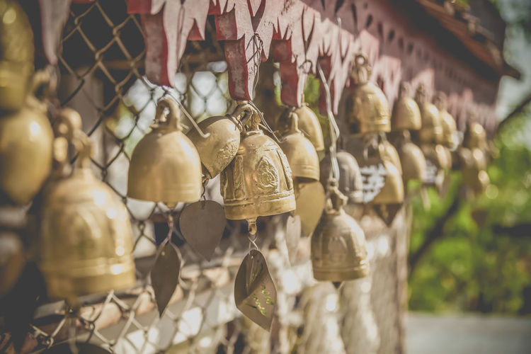 Close-up of bells