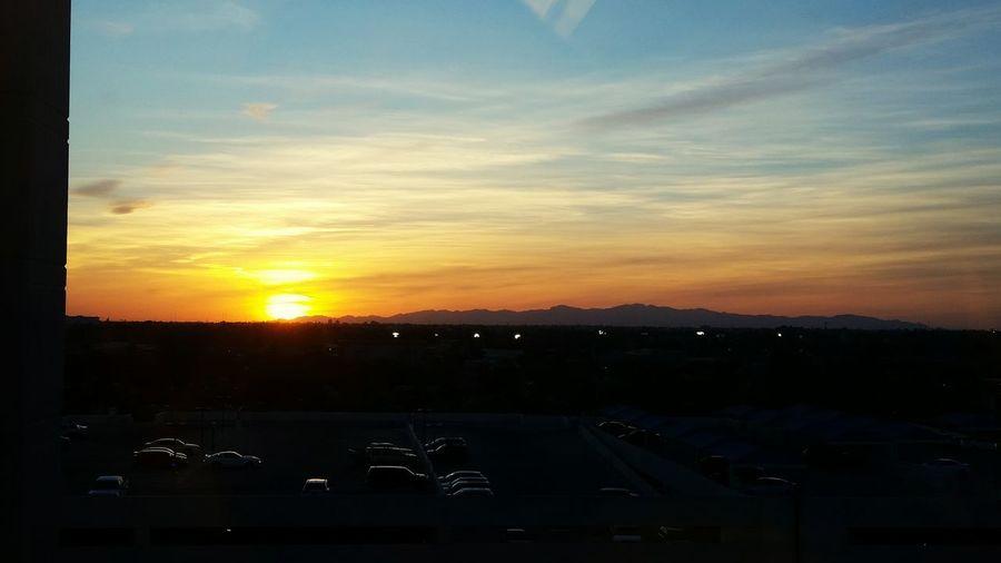 Phoenix St. Joseph sunset First Eyeem Photo Sunset Arizona Sunsets Sonoran Desert Sunset Orange Color Tranquil Scene Dusk