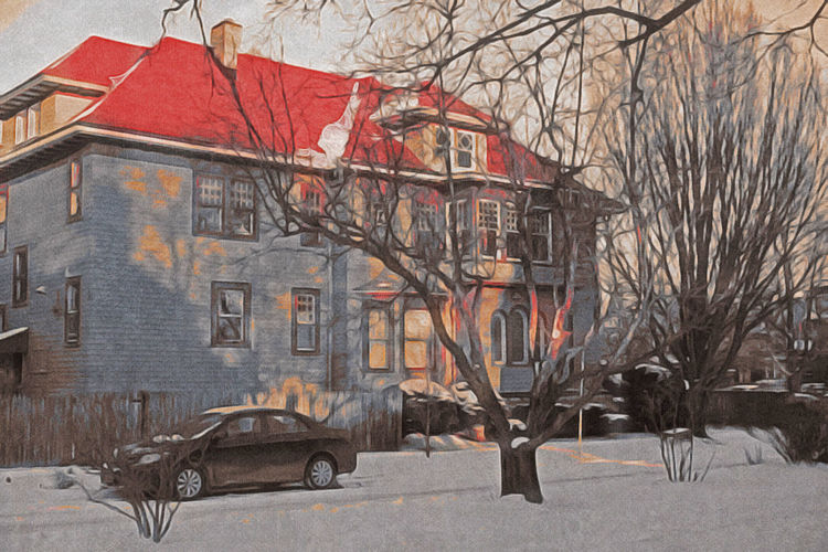 Art And Craft City Life Cityscapes Cold Snow Snow ❄ Street Sunset Urban Landscape Warmthandsunshine Watercolour Winter