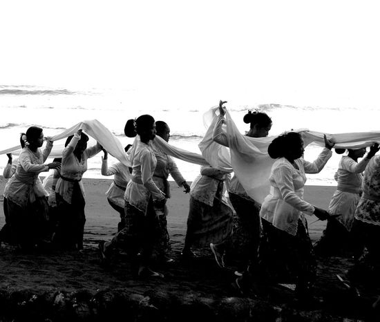 Bali Culture Adult Bali Beach Ceramony Balian Ceramony Beach Bride Celebration Day Full Length Large Group Of People Lifestyles Men Outdoors People Real People Sky Standing Togetherness Tradition Water Women