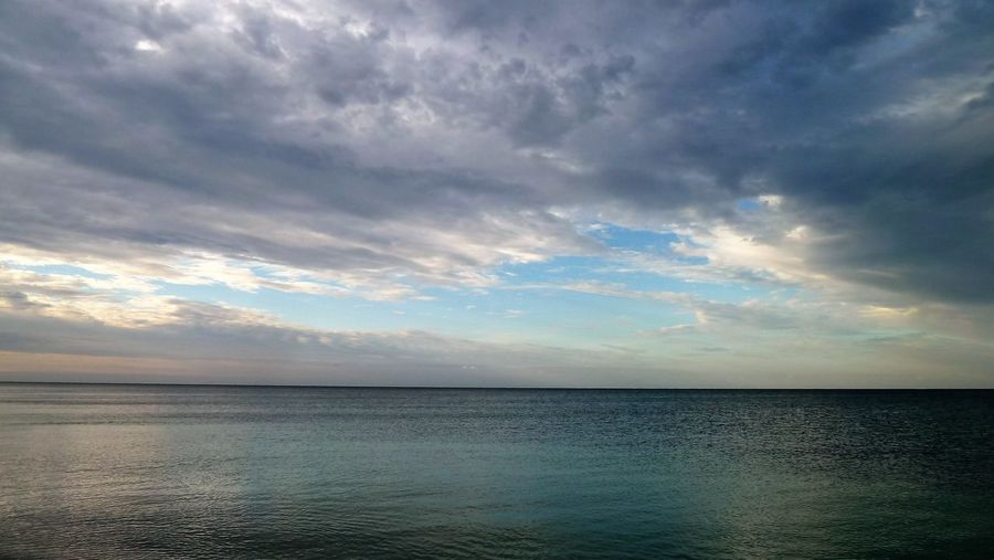 Beauty In Nature Cloud - Sky Day Horizon Over Water Idyllic Nature No People Outdoors Reflection Scenics Sea Sky Sunset Tranquil Scene Tranquility Water
