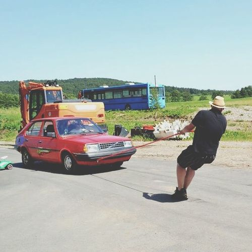 Le me being champion of the Volvo Pulling at this years VTM