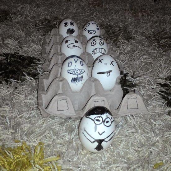 Egg Men Eggs Funny Horrible Day. Amateurphotographer  Olcay Özfırat
