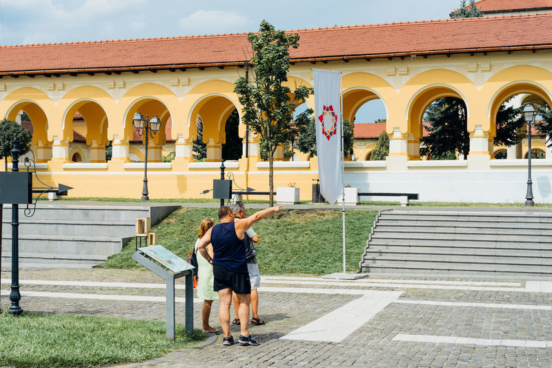 Visiting Alba Iulia Architecture Built Structure Building Exterior Day Building Outdoors Nature Travel Destinations Travel Traveling Tourism Tourist Tourist Attraction  Church Church Architecture Summer Summertime Visiting Sunny Alba Iulia Romania History Historic Past Stairs