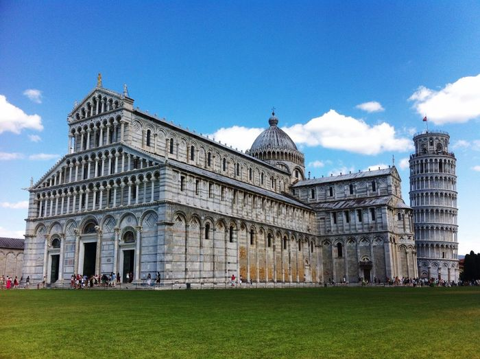 Exterior of pisa cathedral and tower
