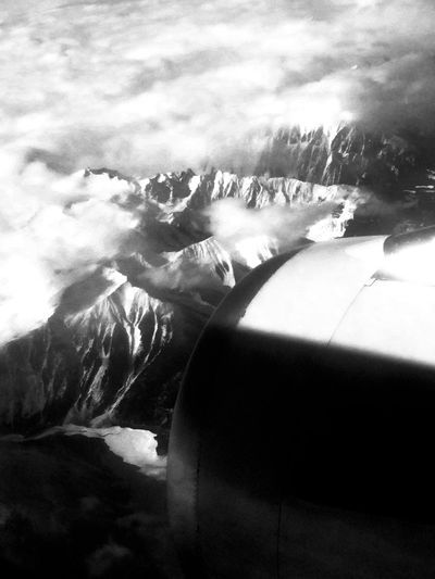 Peace be the journey 🏔✈️ Flying High Sky No People Outdoors Beauty In Nature Airplane IPhoneography Mountains First Eyeem Photo Flying High