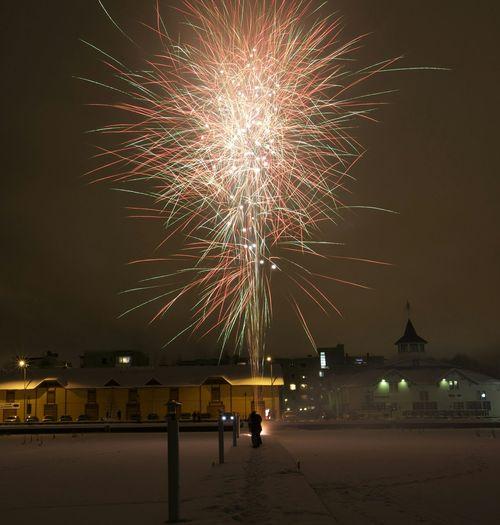 New year 2015 in Kuopio Canon 5dMarkⅡ Long Exposure Nightphotography Fireworks NewYear Finland Kuopio