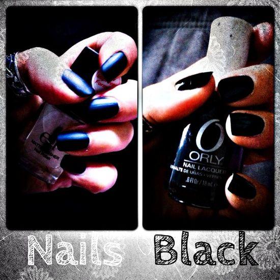Nails Blackandwhite Black Model