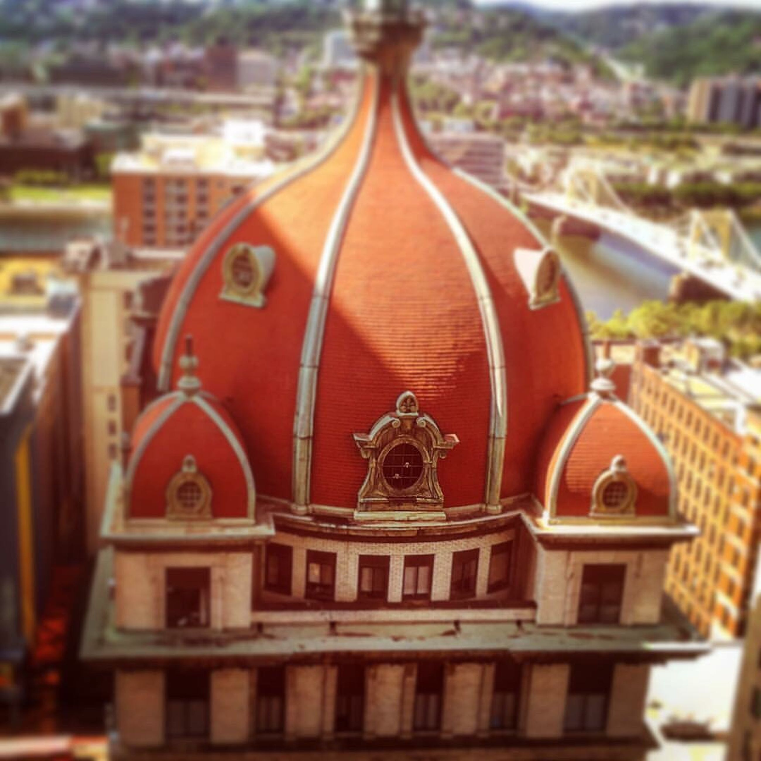 red, focus on foreground, brown, building exterior, city, day, outdoors, journey, vibrant color, ancient