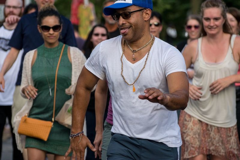 Hat Casual Clothing Outdoors Fun Day Arts Culture And Entertainment Togetherness Enjoyment Music Smiling Real People Sommergefühle Adult Baseball Cap Urban Man Columbia Dancing Syracuse Ny Wescott Street Festival Fun