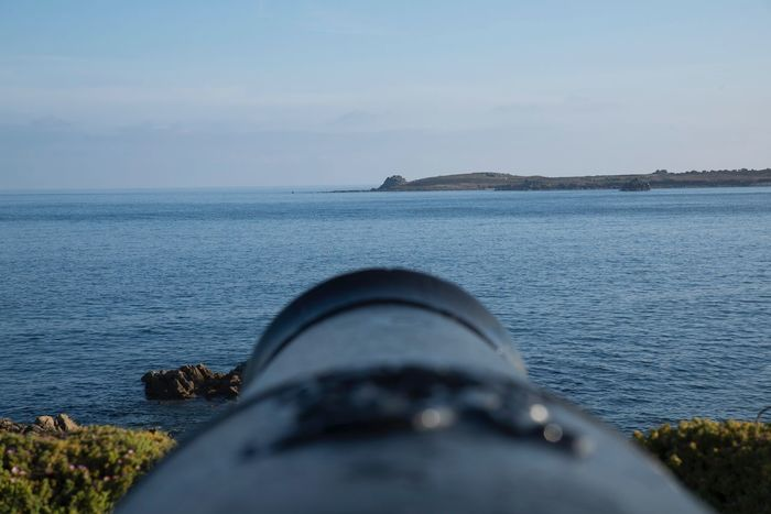 Isles of Scilly cannon Sea And Sky Sea Outdoors Sky Cannon Castle Architecture Military Abandoned Blue Blue Sky Summer