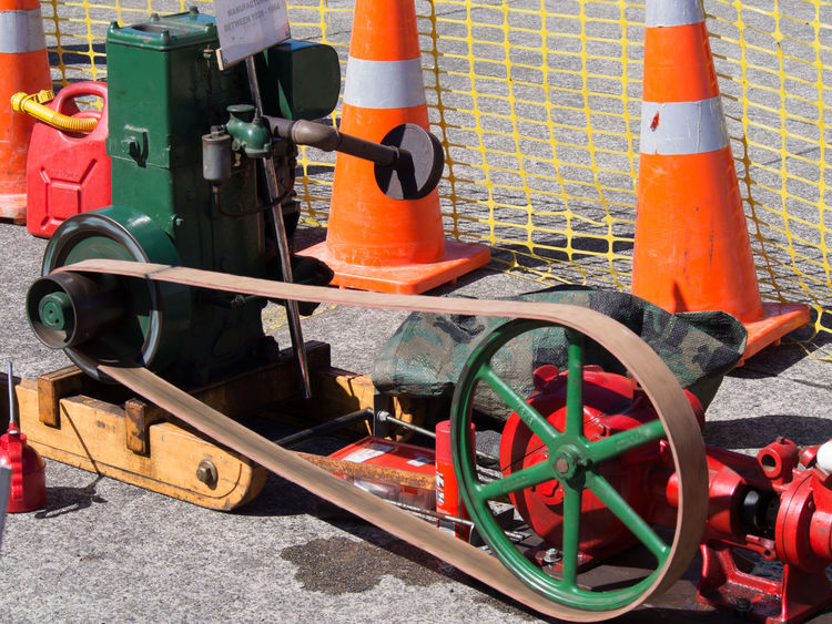 Road cones and machinery Cones Machinery Road Cones Vintage Vintage Machinery